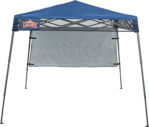 Backyard Champs Backpack 36 7 x7 Instant Canopy Midnight Blue Top, Gray Frame