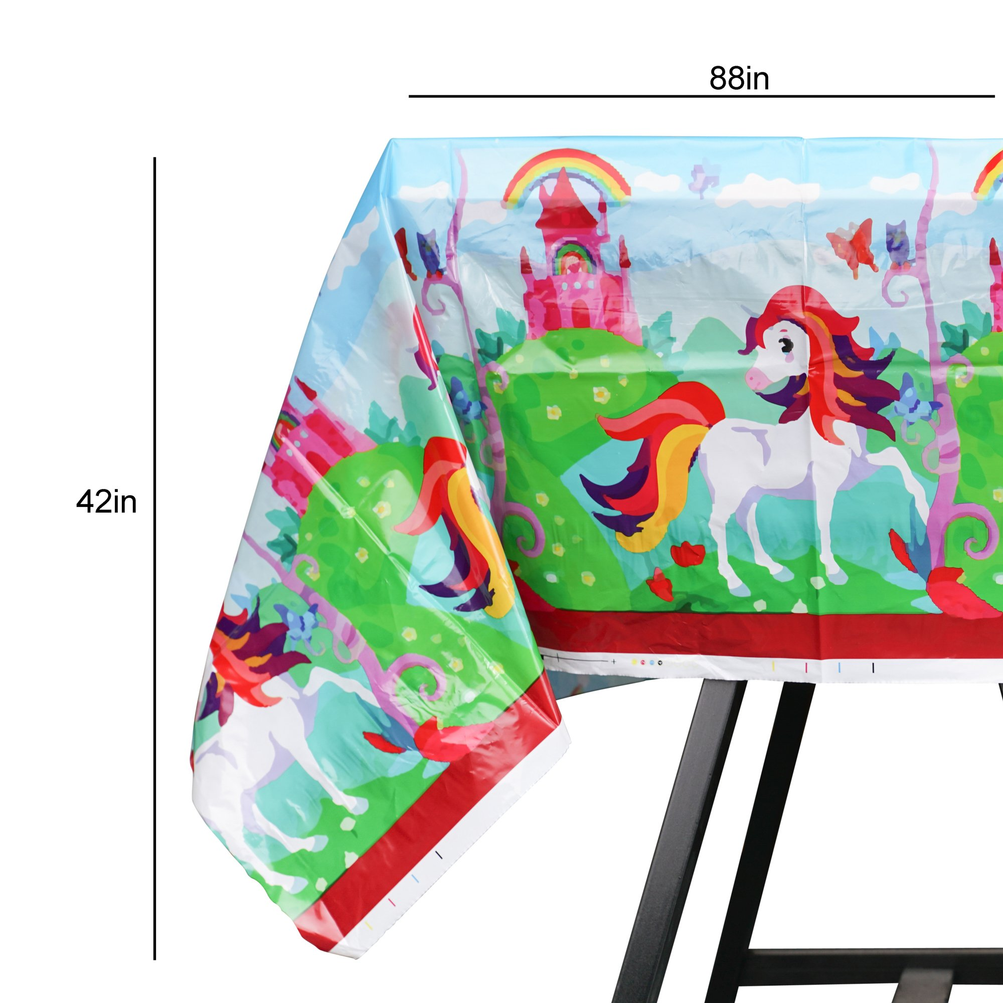 82 Piece Unicorn Party Supplies Set Including Banner, Plates, Cups, Napkins and Tablecloth, Serves 20 by Scale Rank (Image #6)