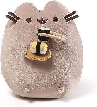 Gund 9.5 Inch Pusheen Snackables Sushi Chopsticks Plush Cat