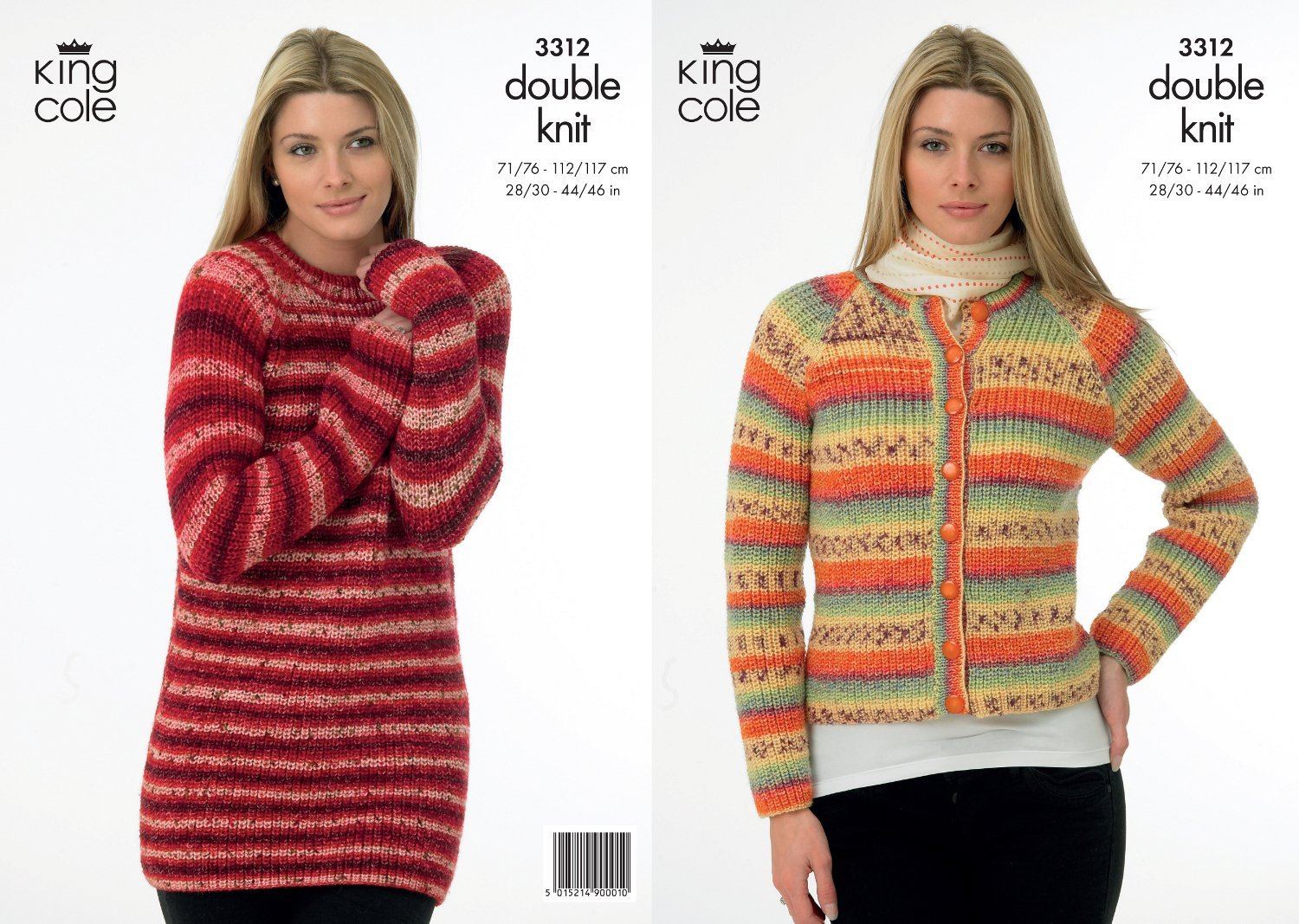 King Cole Knitting Pattern 3312 : Lady\'s/Girl\'s DK Knitted ...