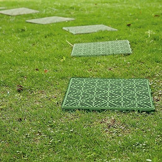 Baldosas de jardín o patio con rejilla de Parkland®, antideslizantes, para crear senderos sobre césped, cuadradas, de 30 cm: Amazon.es: Jardín