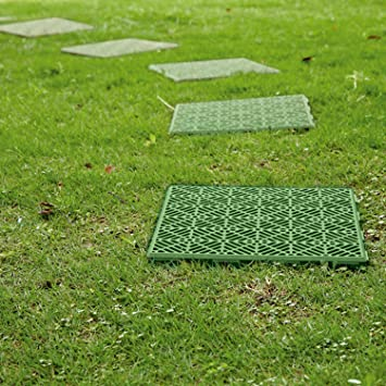 Parkland® Plastic Garden Path Floor Tiles Non Slip, Walkway Or Patio Tiles  Lawn Paving