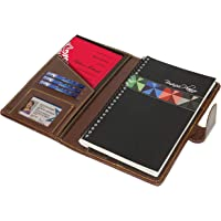 SNDIA Leather Business Corporate Diary Planner with Debit-Credit Business Card Slot & Legal-size Writing Pad