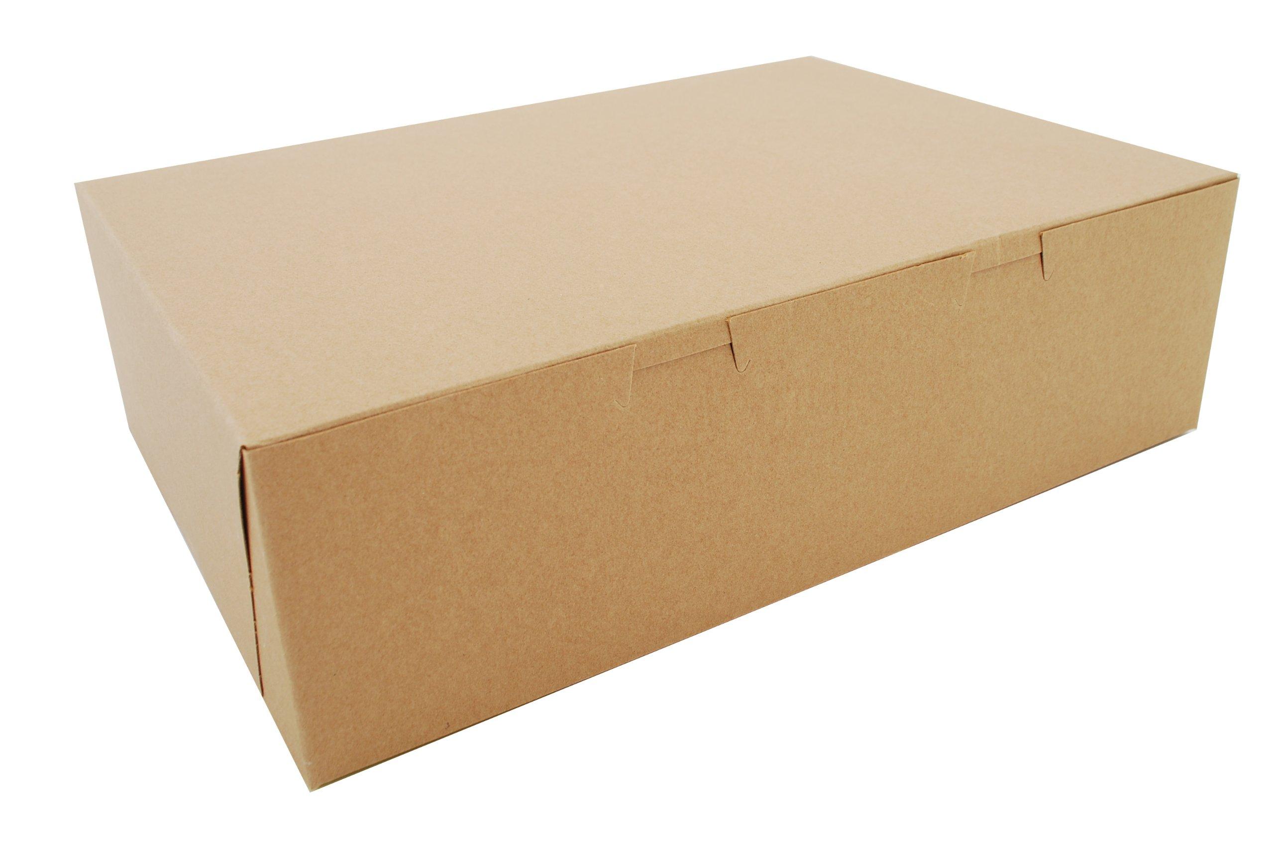 Southern Champion Tray 1025K Kraft Non Window Bakery Box, 14'' Length x 10'' Width x 4'' Height (Case of 100)
