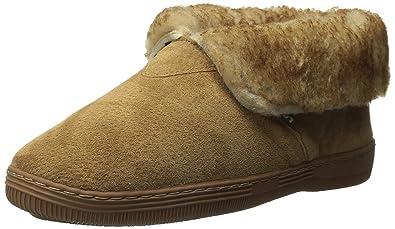 e303eb75870ea7 Lamo Men s Bootie Faux Fur Collar Chestnut Shoe
