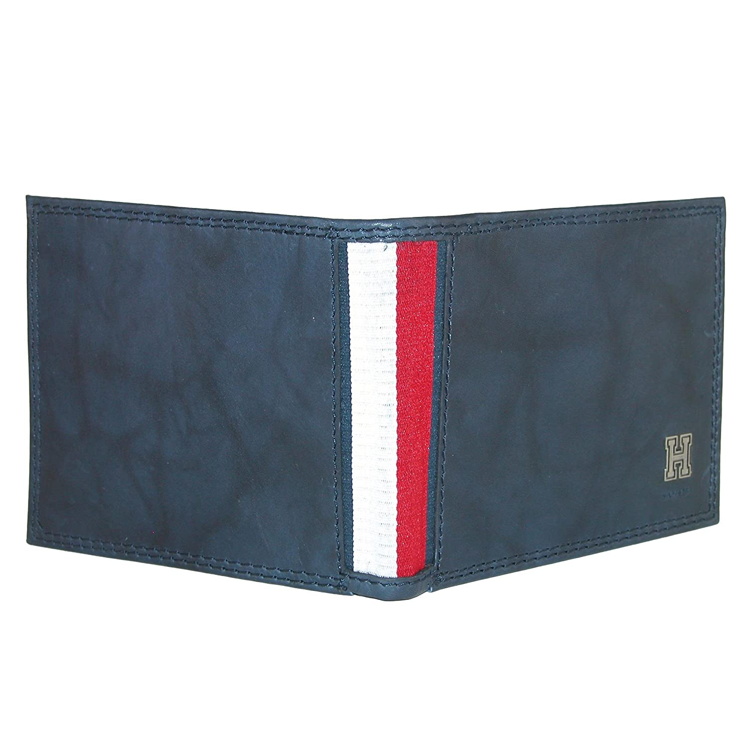 (One size, Navy) - Tommy Hilfiger Mens Rfid Blocking Leather Extra Capacity Traveller Bi-Fold Wallet: Amazon.es: Ropa y accesorios