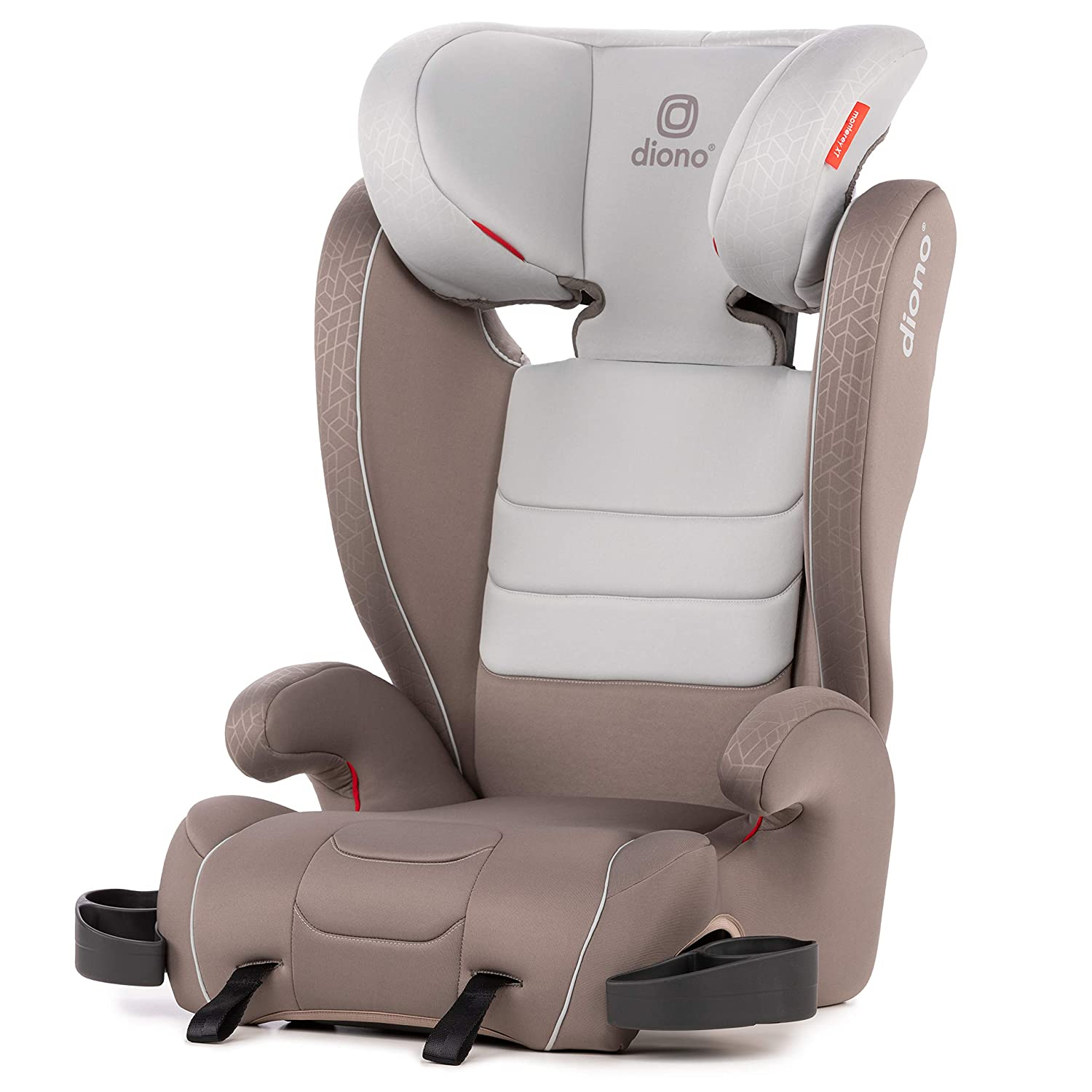 Diono Monterey XT Latch, 2-in-1 Expandable Booster Seat, Grey Oyster