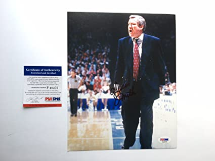 be437fe961d Image Unavailable. Image not available for. Color  Dean Smith Rare! signed  North Carolina autographed 8x10 photo Jordan PSA cert