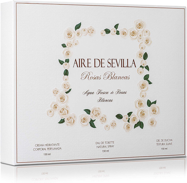 Instituto Español Set Perfume Mujer Rosas Blancas - Aire de Sevilla - EDT, Crema Hidratante, Gel de Ducha: Amazon.es: Belleza