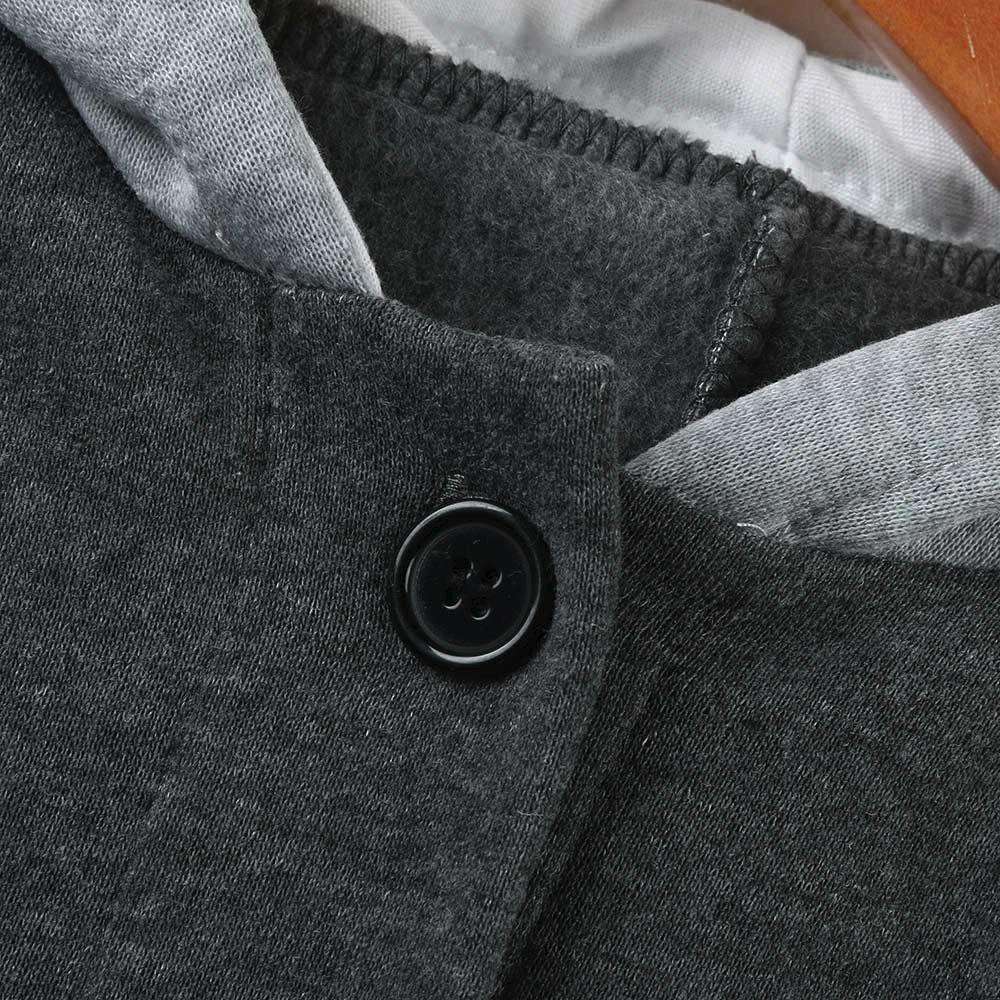 Winter Hooded Coat Thick Warm Jacket Pollyhb Unisex Child Long Coat Baby Long Coat