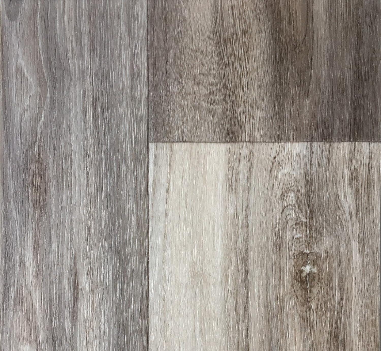 Robuster /& rutschfester Boden-Belag Vinyl-Fu/ßbodenbelag 350 cm L/änge /& 4 m Breite Fu/ßbodenheizung geeignet PVC-Bodenbelag Holzoptik in Hellbraun PVC Platten strapazierf/ähig /& pflegeleicht