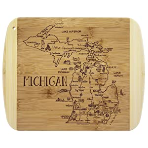 Totally Bamboo A Slice of Life Michigan Bamboo Serving and Cutting Board