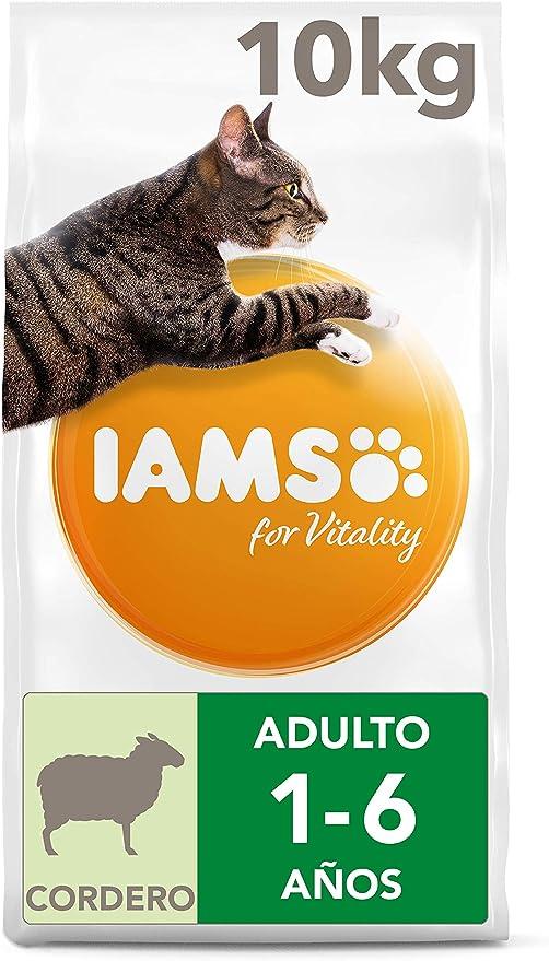 IAMS for Vitality Alimento para Gato Adulto con Cordero, 10 kg: Amazon.es: Productos para mascotas