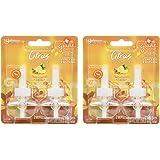 Glade PlugIns Sparkling Citrus Sunrise Scented Oil Refills, 4 Refills, 2-Pack of 2 Each