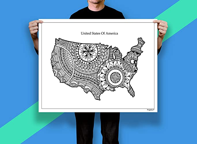 Amazon com: Giant coloring poster - USA map, A0 Size - 33 1 x 46 8
