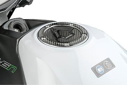PUIG - 8402C : protector tapón modelo XTREME KAWA 06-13 color carbono Kawasaki -> ER-5 (06) ER-6F (06-15) ER-6N (06-15) GTR1400 (07-14) KLE500 ...