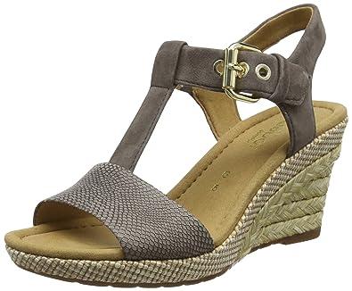 Gabor Shoes Damen Comfort Sport Riemchensandalen, Weiß (Weiss Bast), 40 EU