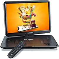 """SUNPIN Portable DVD Player 17.9"""" with Large HD Swivel Screen, 6 Hours Rechargeable Battery, Anti-Shocking, Resume Play…"""