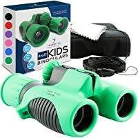 Binoculars for kids by ThinkPeakToys - 8x21 Compact Shockproof Best for Hiking Camping Hunting Bird Watching Star Gazing…