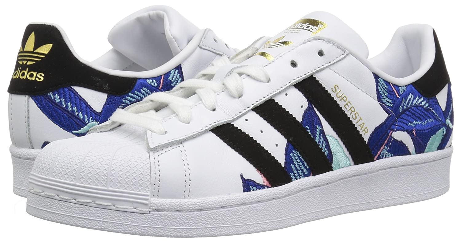Adidas Original Womens Superstar White Shoes with Rose Gold