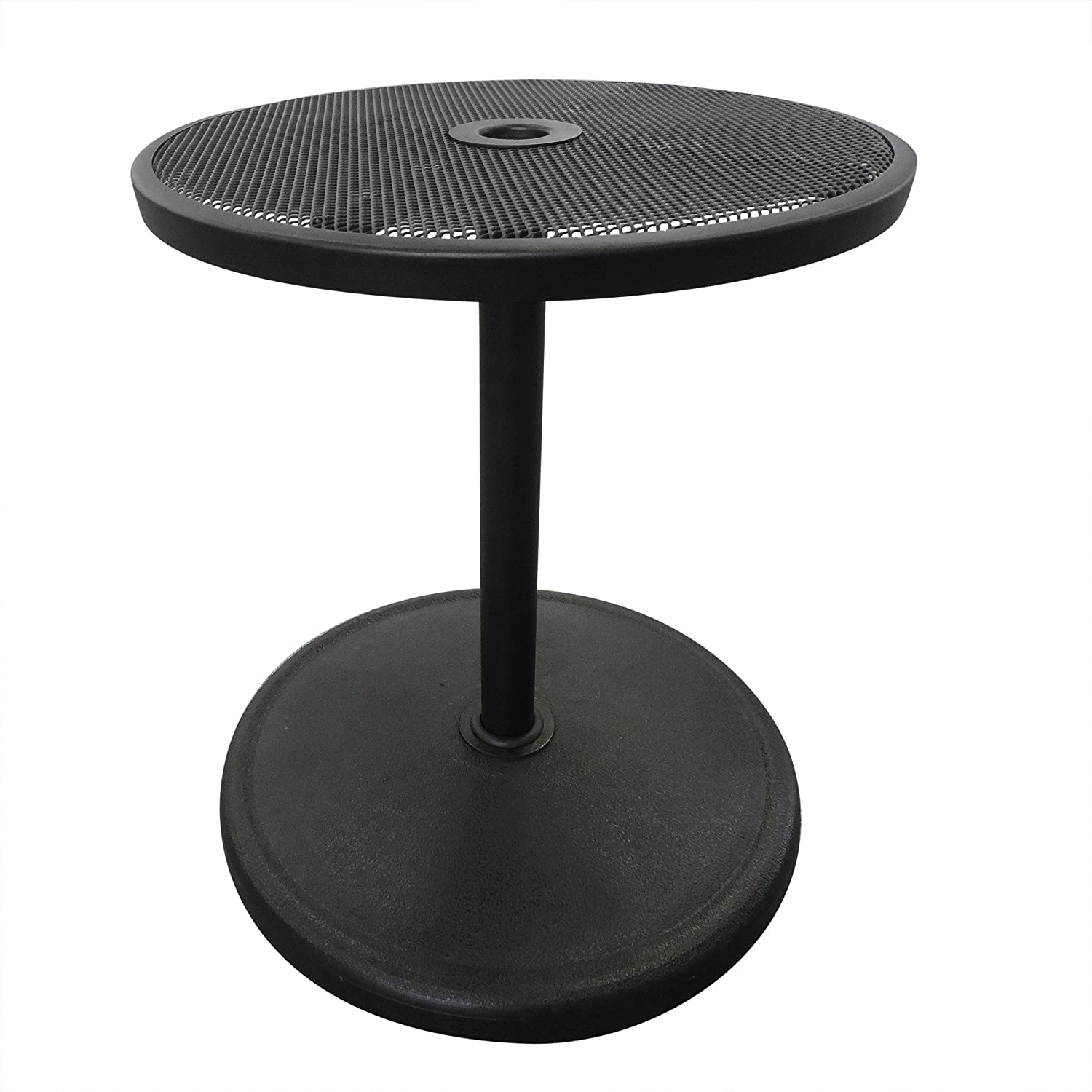 Island Umbrella NU5392 Umbrella Base with Adjustable Table Top, 19.68 x 19.68 x 44.48 , Black