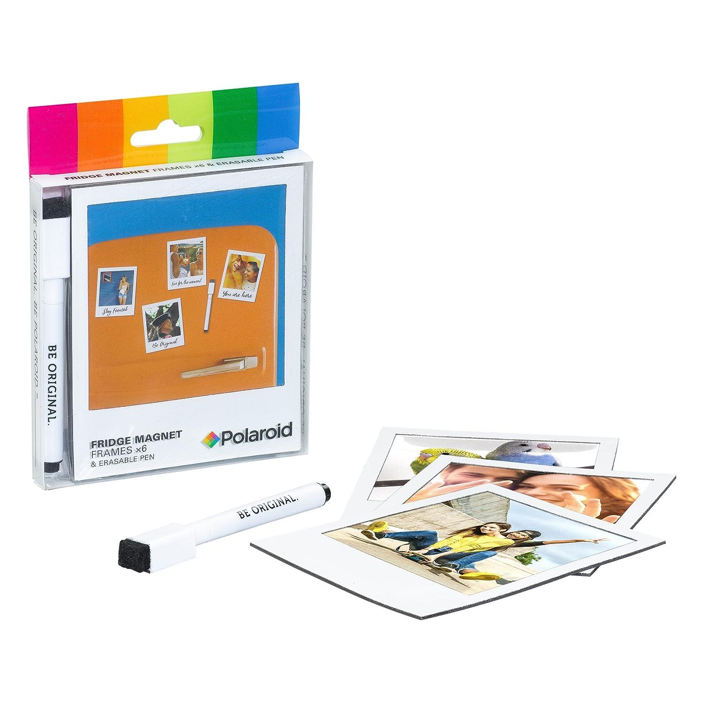 Amazon.com : Polaroid Photo Fridge Magnet Frames & Pen, Black ...
