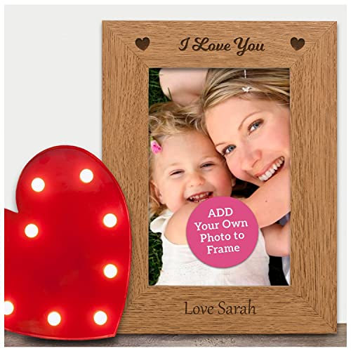 I LOVE YOU Personalised Engraved Photo Frame Mothers Day Gifts Mum ...