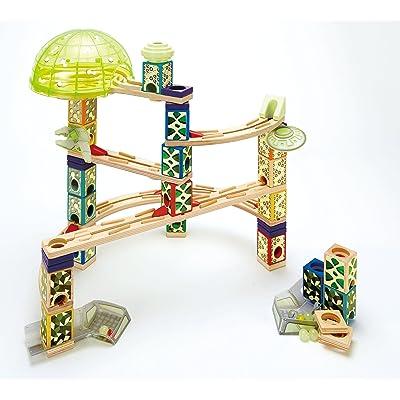 Award Winning Hape Quadrilla Wooden Marble Run Construction - Space City: Toys & Games