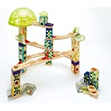 Hape Quadrilla Wooden Marble Run Construction - Space City - Quality Time Playing Together Wooden Safe Play - Smart Play for Smart Families
