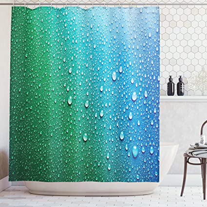 Ambesonne House Decor Collection, Water Drops Relaxation Rainy Day on water bathroom design, black and white bathroom design, beach bathroom design, faith bathroom design, under the sea bathroom design, home bathroom design, arts and crafts bathroom design, classic bathroom design,