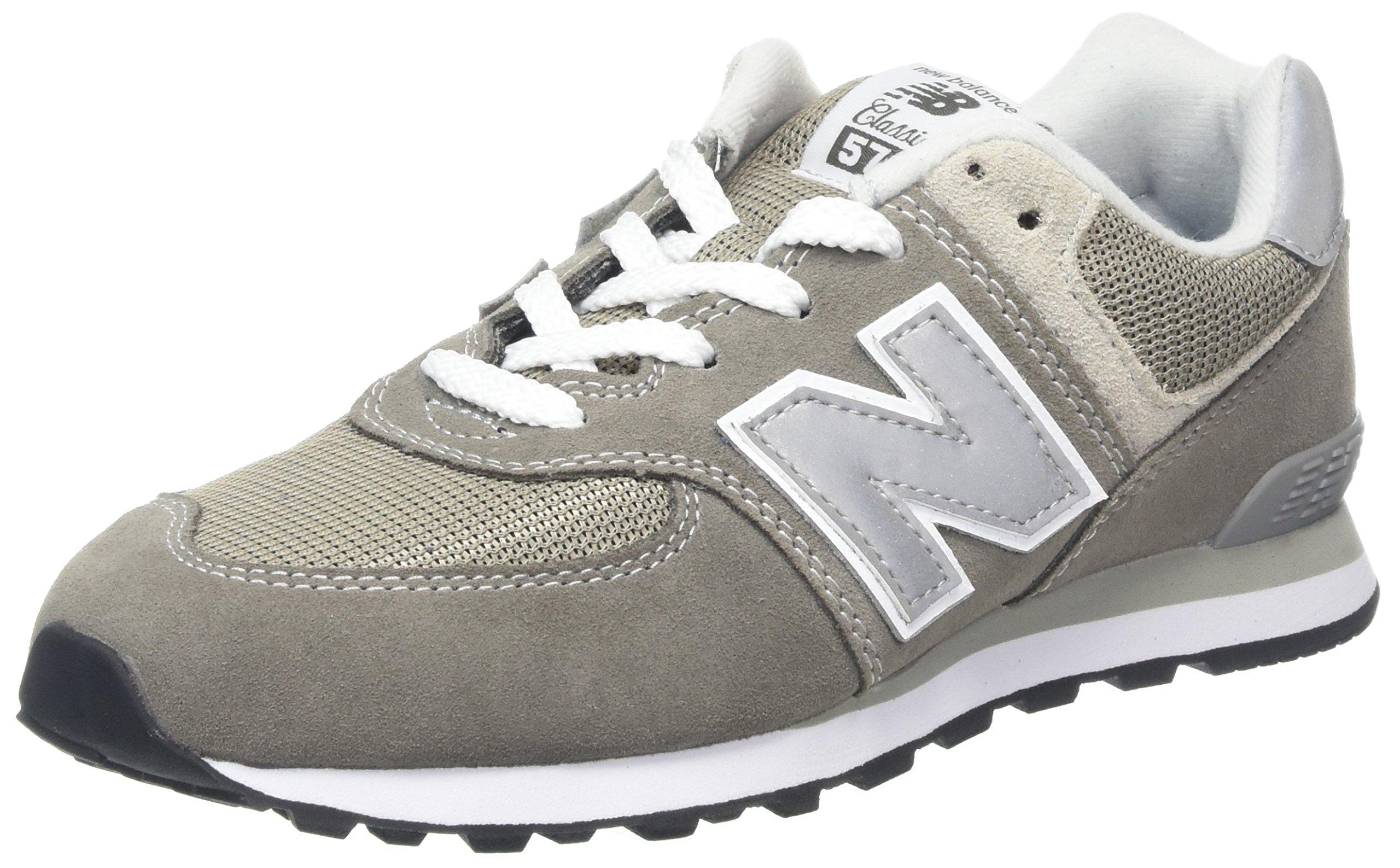 New Balance Boys' 574v1 Essentials Sneaker, Grey, 25 W US Little Kid