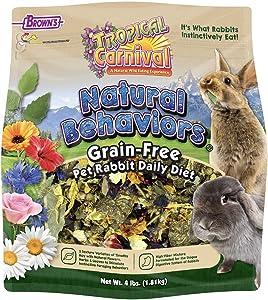 Tropical Carnival F.M. Brown's Tropical Canival Natural Behaviors Grain-Free Pet Rabbit Daily Diet - 4lb