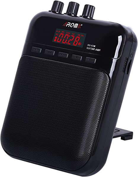 Amplificador de Guitarra Portátil, AROMA Mini Altavoz para Guitarra portátil con función de grabadora de sonido
