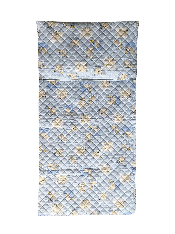Panini Tessuti - Juego de guardería, saco de dormir y bolsa guardería, para niños de 2 a 6 años Orsetto e Api azzurro: Amazon.es: Bebé