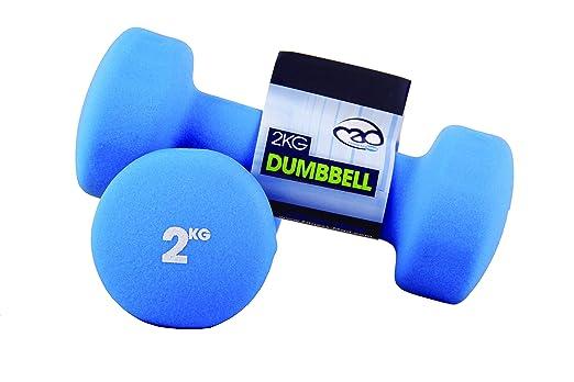 Fitness Mad Neo - Set de 2 Mancuernas / pesas de 4kg/u, color rojo: Amazon.es: Deportes y aire libre