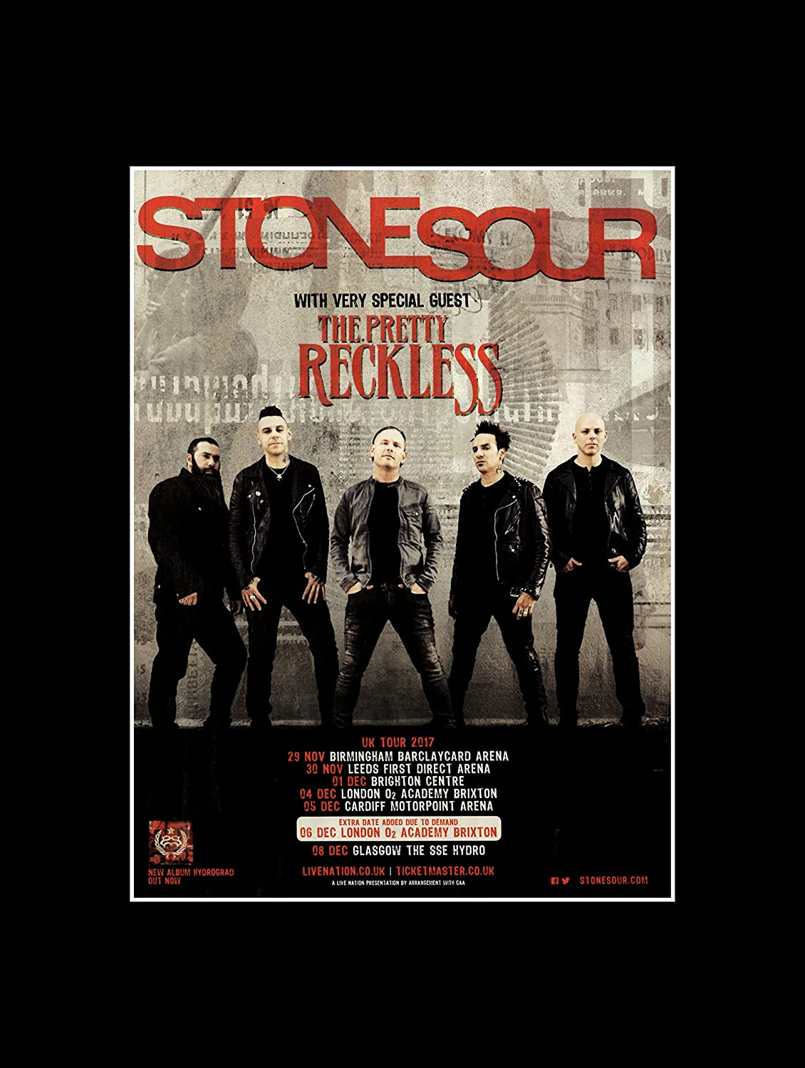 Stick It On Your Wall Stone Sour The Pretty Reckless – UK Tour 2017 ...