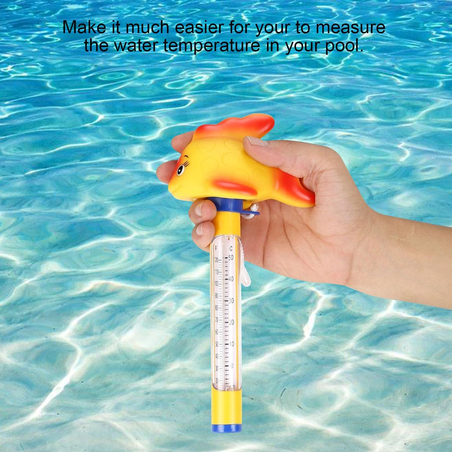 Whirlpool Whirlpool und Aquarien Goldfisch Leegoal Floating Pool Thermometer schwimmendes Thermometer Niedliche Tiere f/ür Outdoor//Indoor Schwimmbad Spa