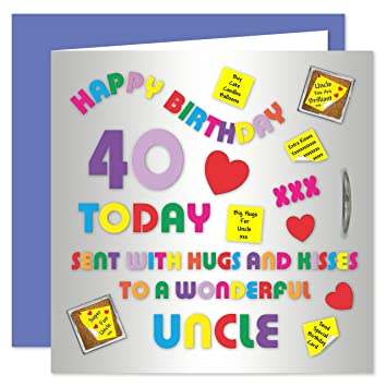 Uncle 40th Happy Birthday Card