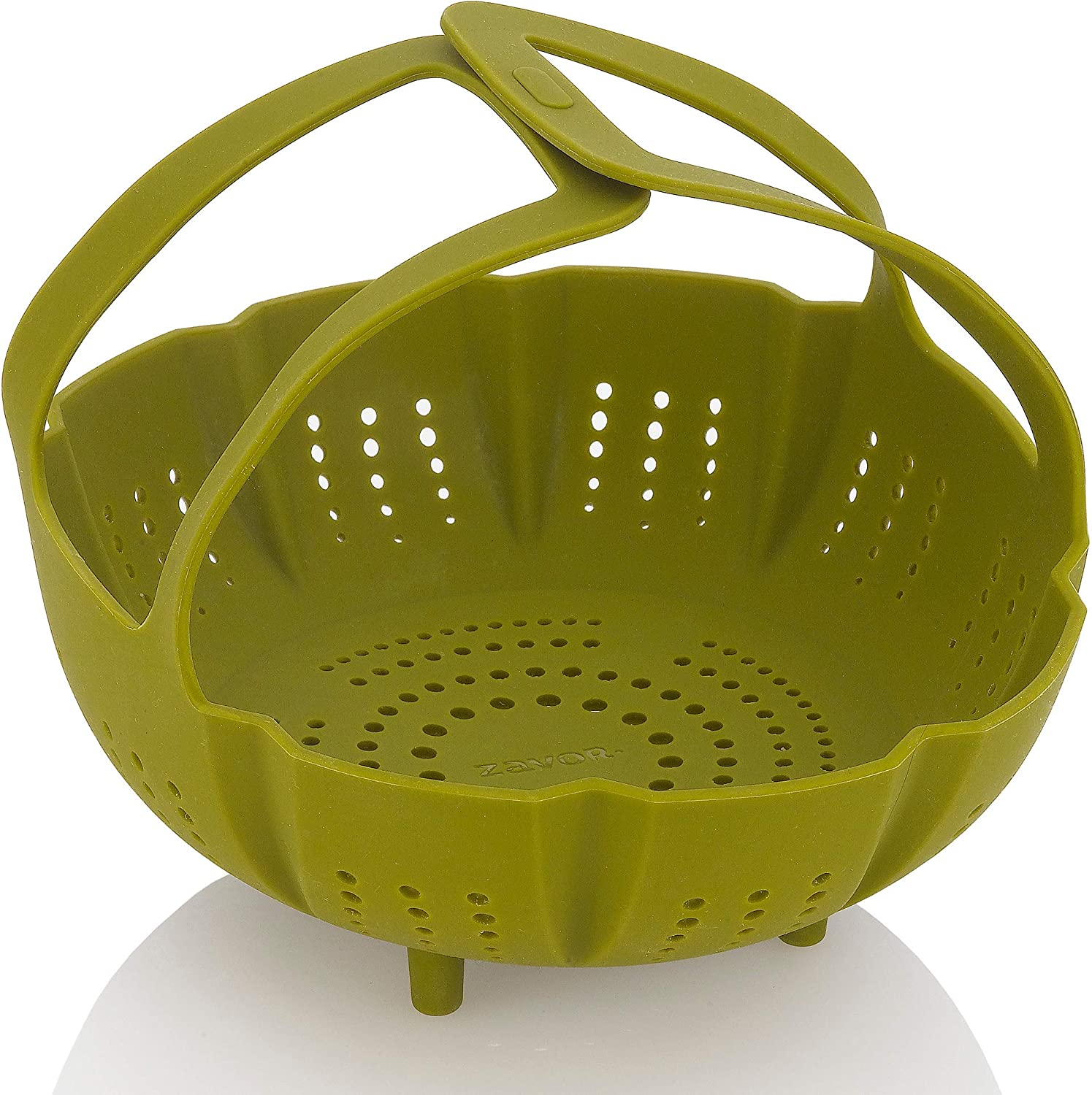 Zavor Silicone Steamer Basket & Strainer for 6Qt & Larger Pressure Cookers, Multicookers, Instant & Stock Pots | BPA-free, Non-scratch Pressure Cooker Accessories Collection, Green (ZACMISB22)