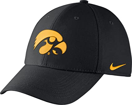 Image Unavailable. Image not available for. Color  Nike Men s Iowa Hawkeyes  Black Dri-FIT Wool Swoosh Flex Hat ... 9aaa79ba665b