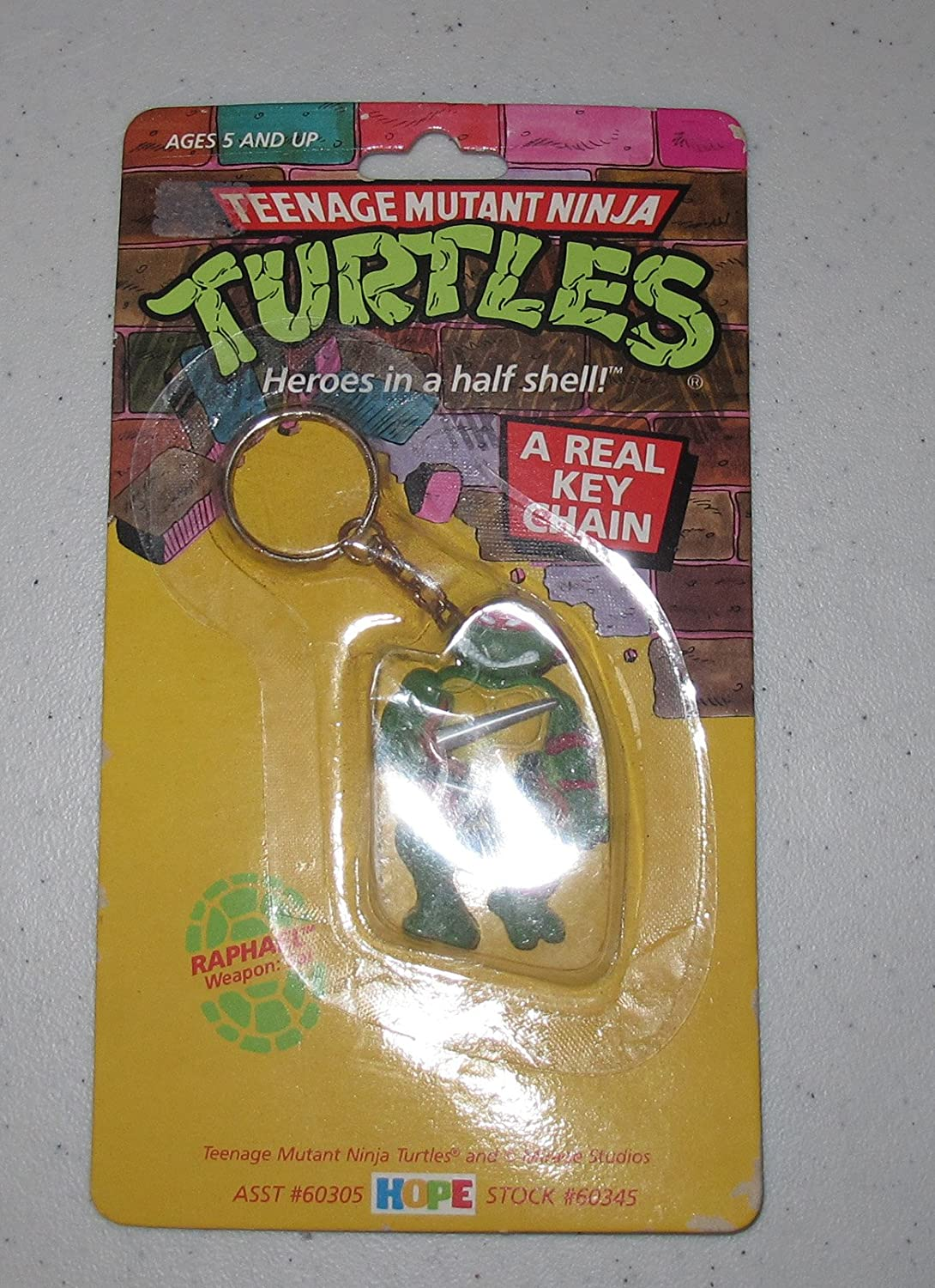 Vintage Mirage Studios Teenage Mutant Ninja Turtles Keychain Raphael