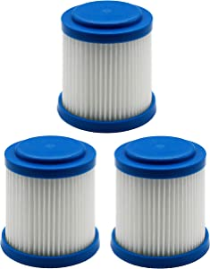 Green Label 3 Pack Replacement Pleated Filter for Black+Decker Hand-Held Vacuum Cleaners (Compares to VPF20)