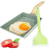 Tamagoyaki Japanese Omelette Pan, Egg Omelette Pan,Square Pan Non-Stick Ceramic Coating Mini Frying Cooker with Anti…