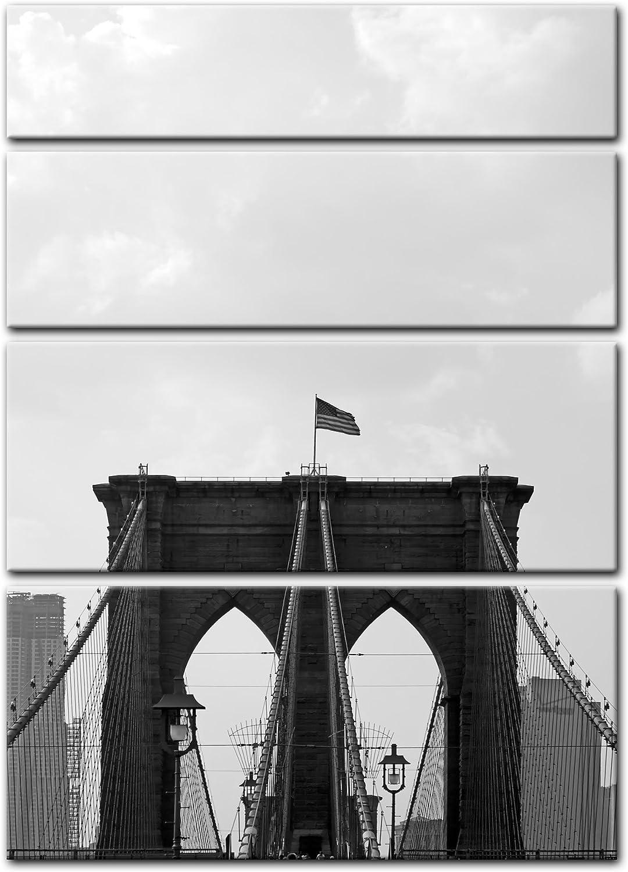 Bilderdepot24 Cuadros en Lienzo Brooklyn Puente USA 2
