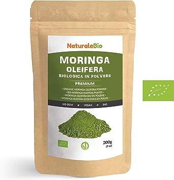 Moringa Oleifera Ecológica en Polvo [Calidad Premium] de 200g ...