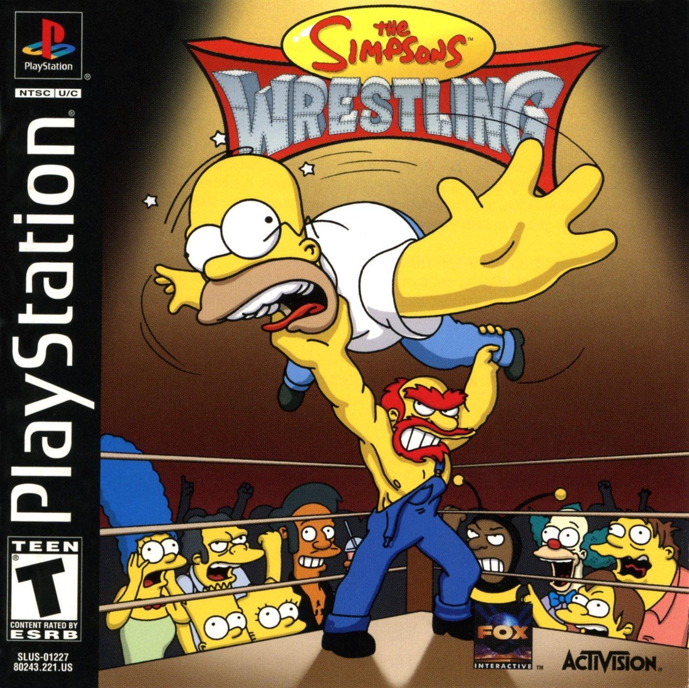 amazon com the simpson u0027s wrestling video games