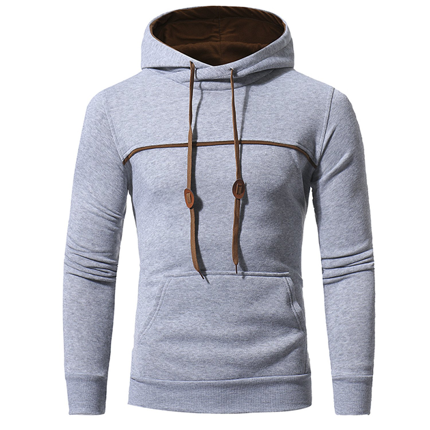 Amazon.com: RENXINGLIN Cosy Men Sudaderas Hombre Hip Hop Mens Brand Solid Color Pullover Hoodie Sweatshirt: Clothing
