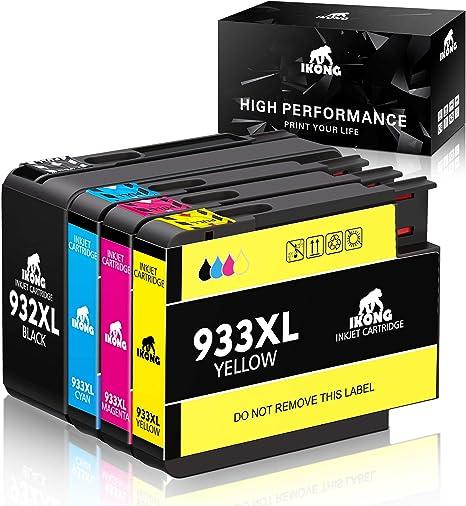 Amazon.com: Repuesto de cartucho de tinta 932 y 933 de alta ...