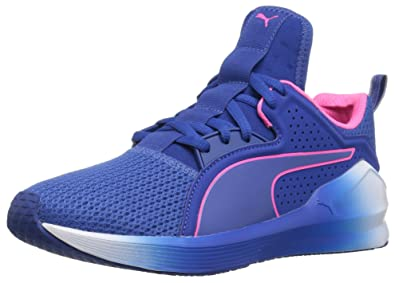 PUMA Women s Fierce Lace Wn s Cross-Trainer Shoe True Blue-knockout Pink