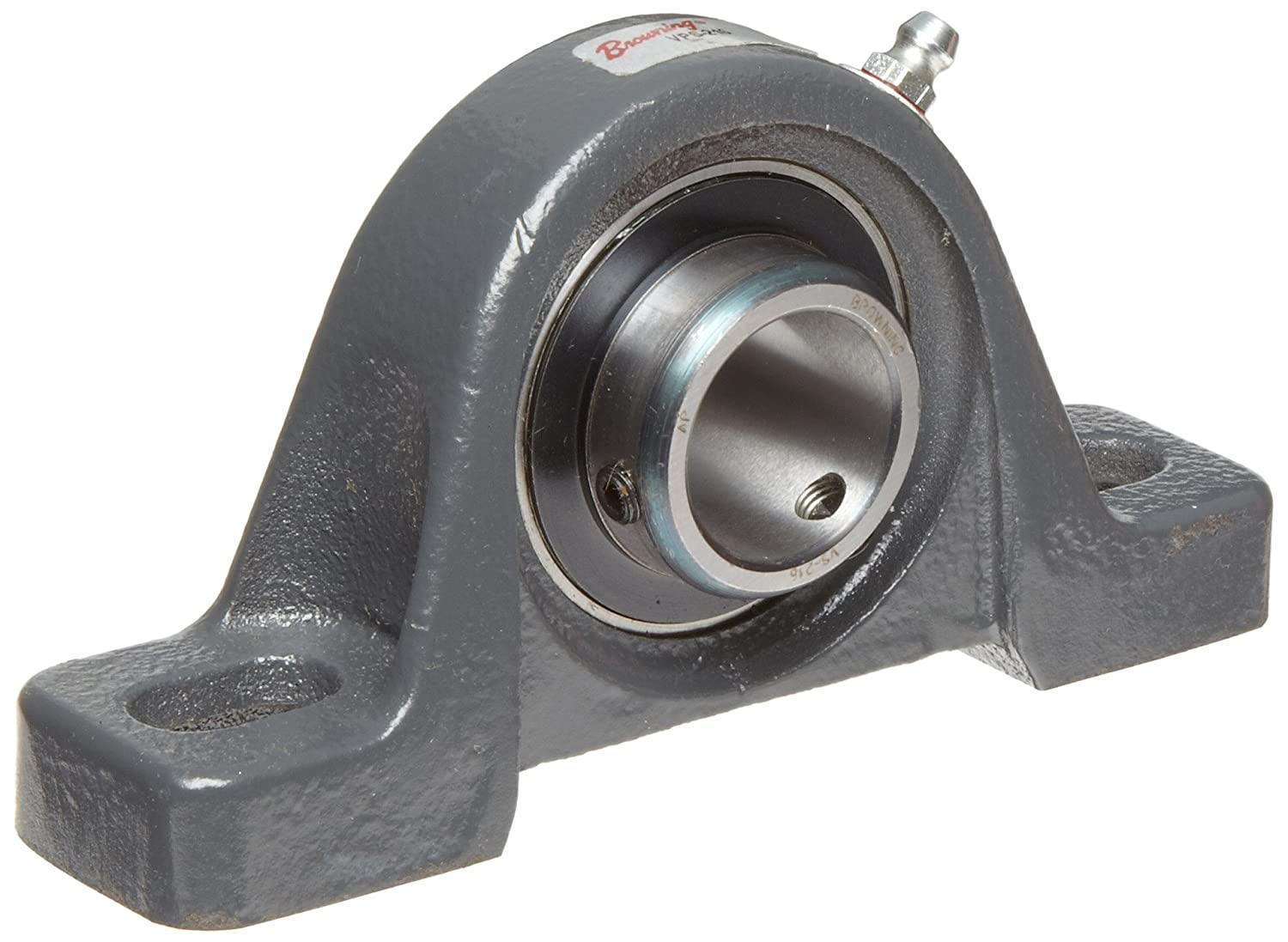 "B00209VP08 Browning VPS-216 Pillow Block Ball Bearing, 2 Bolt, Setscrew Lock, Contact and Flinger Seal, Cast Iron, Inch, 1"" Bore, 1-7/16"" Base To Center Height 81GFO04xGHL"